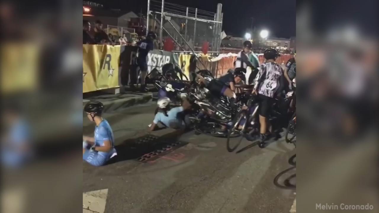Red Hook bike race pileup