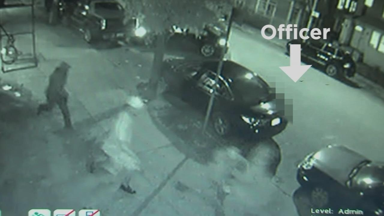 Raw: Surveillance shows officer dragged
