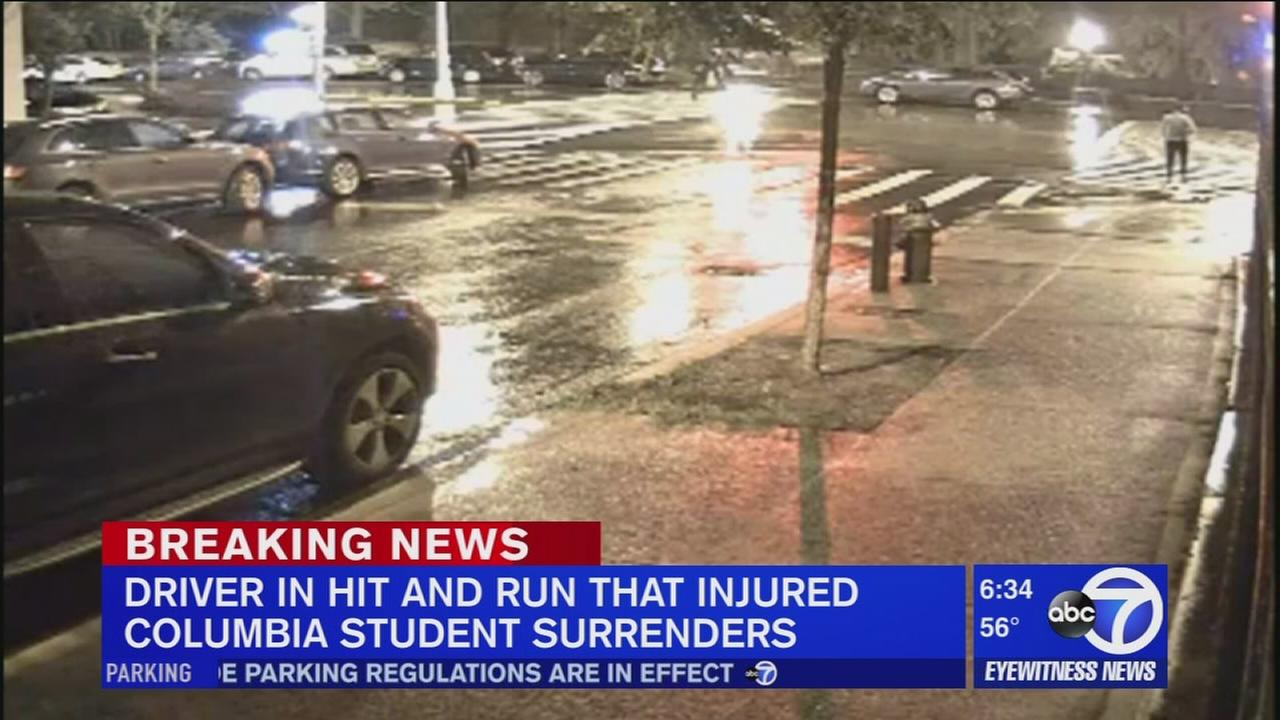 Driver in Columbia student hit-and-run surrenders