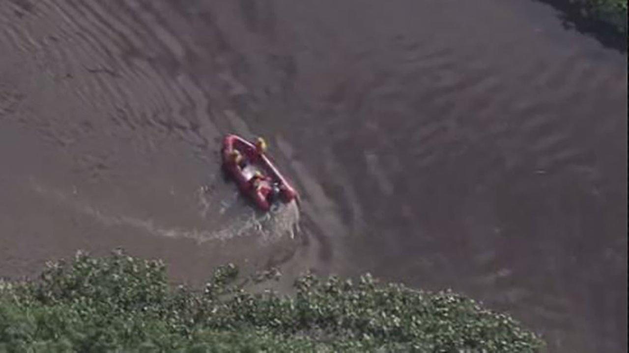A teen swimmer disappeared in Hamilton Township.