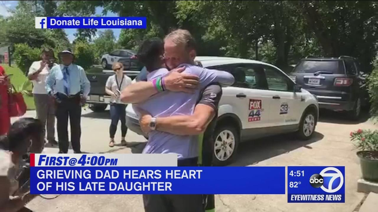 The Trend: Greiving dad hears heart of late daughter