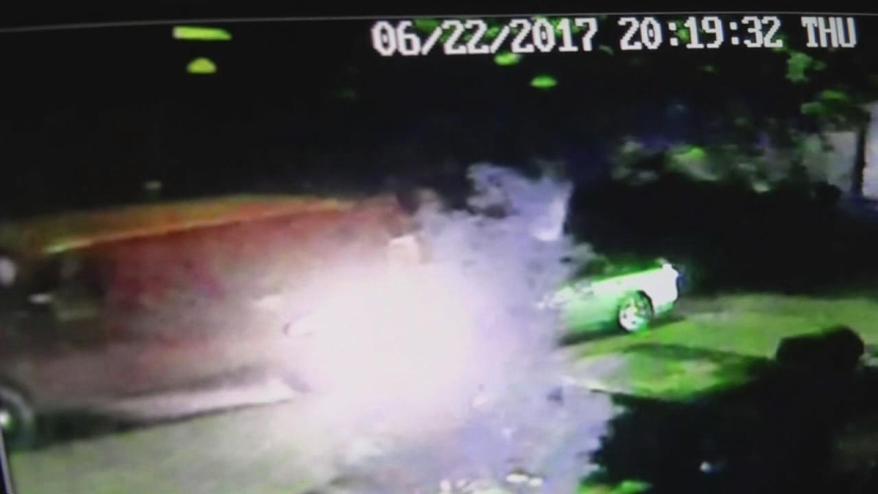 Man injured after car crashes into van