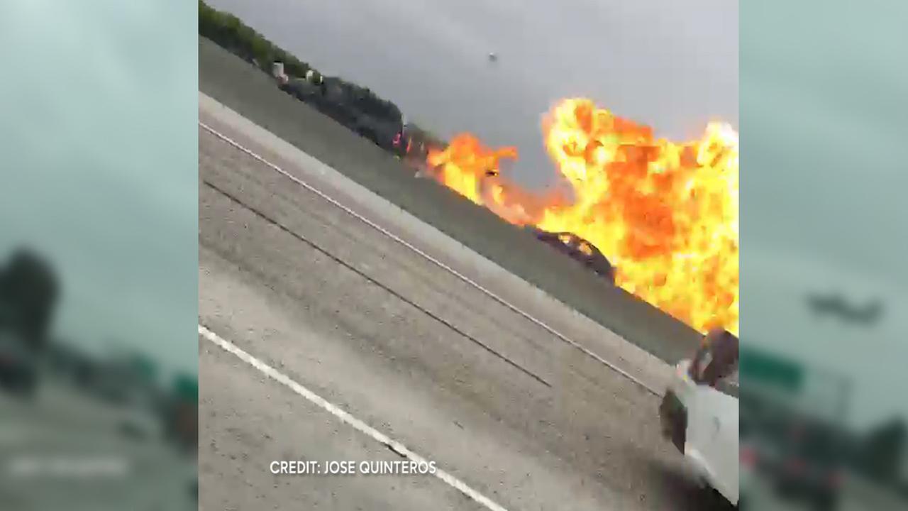 small plane crash california video
