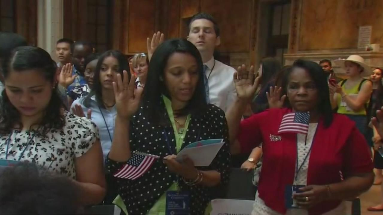WATCH: Over 200 residents become U.S. citizens in honor of Independence Day