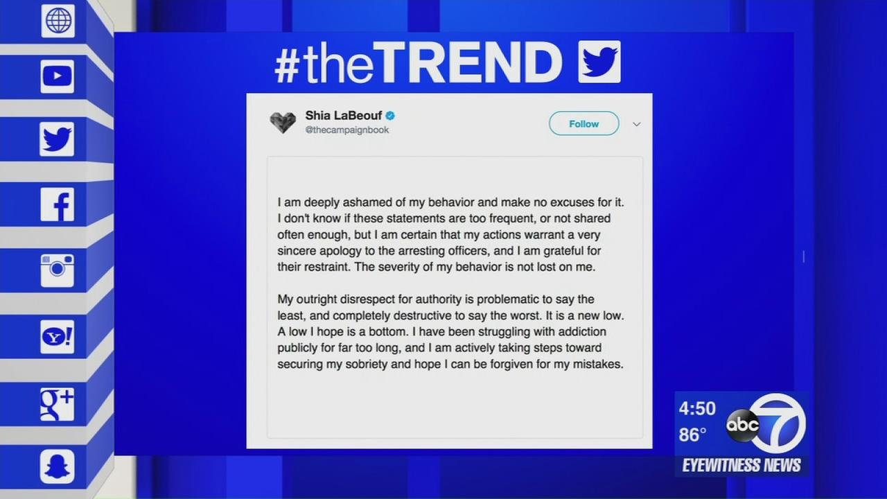 The Trend: Shia LaBeouf apologizes for remarks