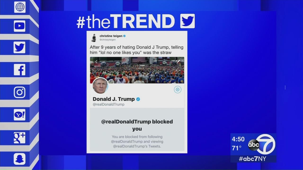 The Trend: President Trump blocks Chrissy Teigan on Twitter