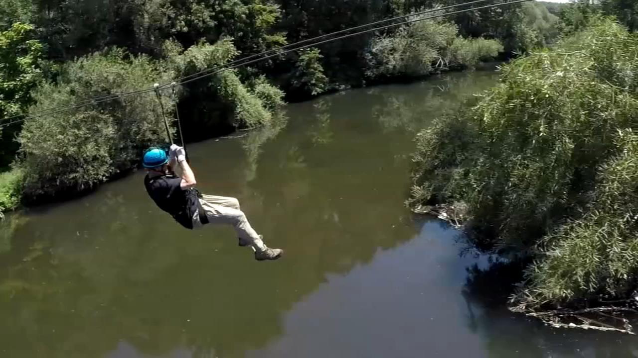 Zip across the Bronx River