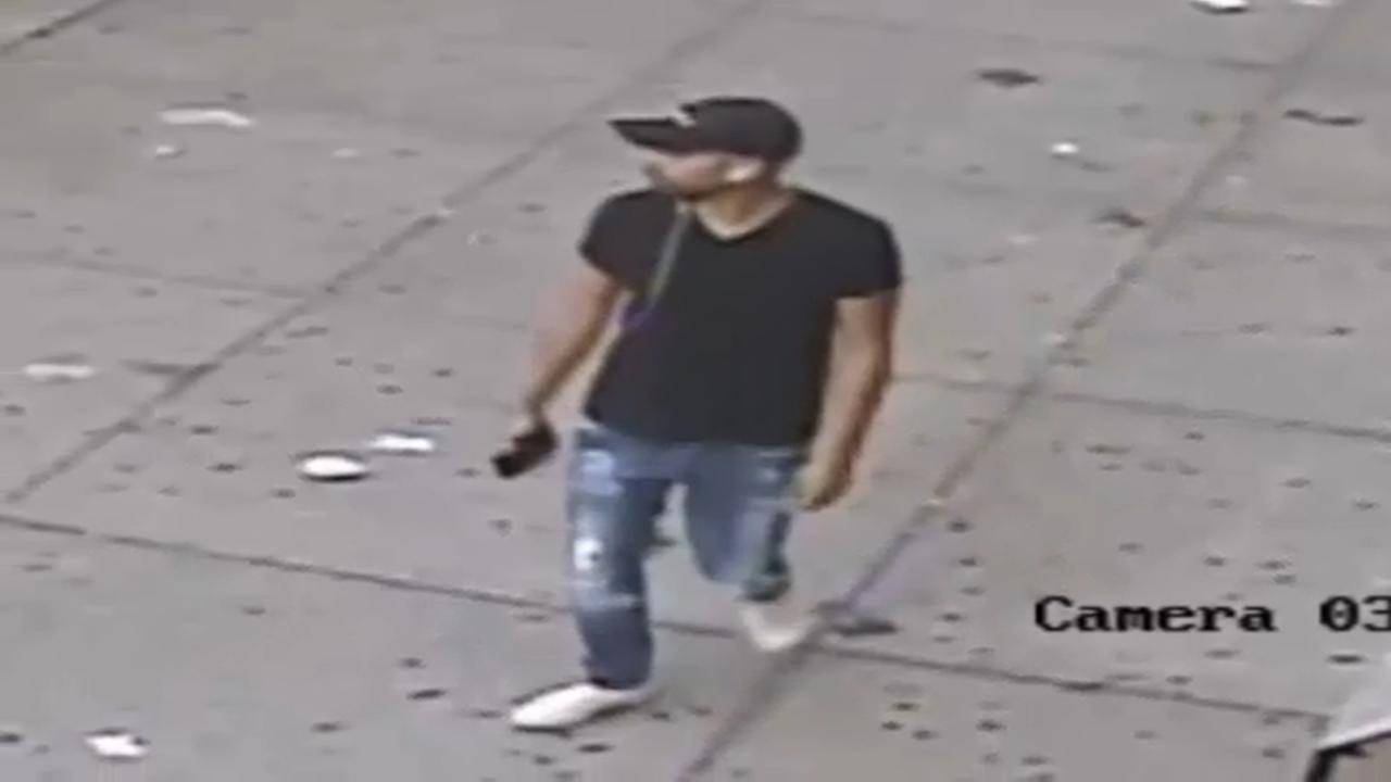 Raw: Surveillance video shows suspect in attempted rape