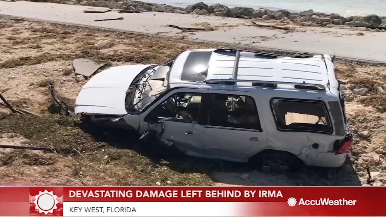 Surveying the damage on Key West