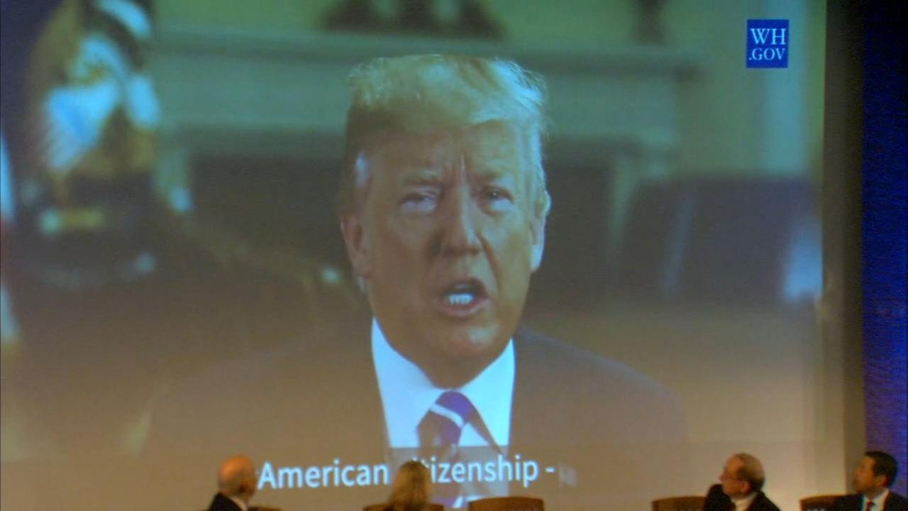Raw video: President Trumps message to new citizens