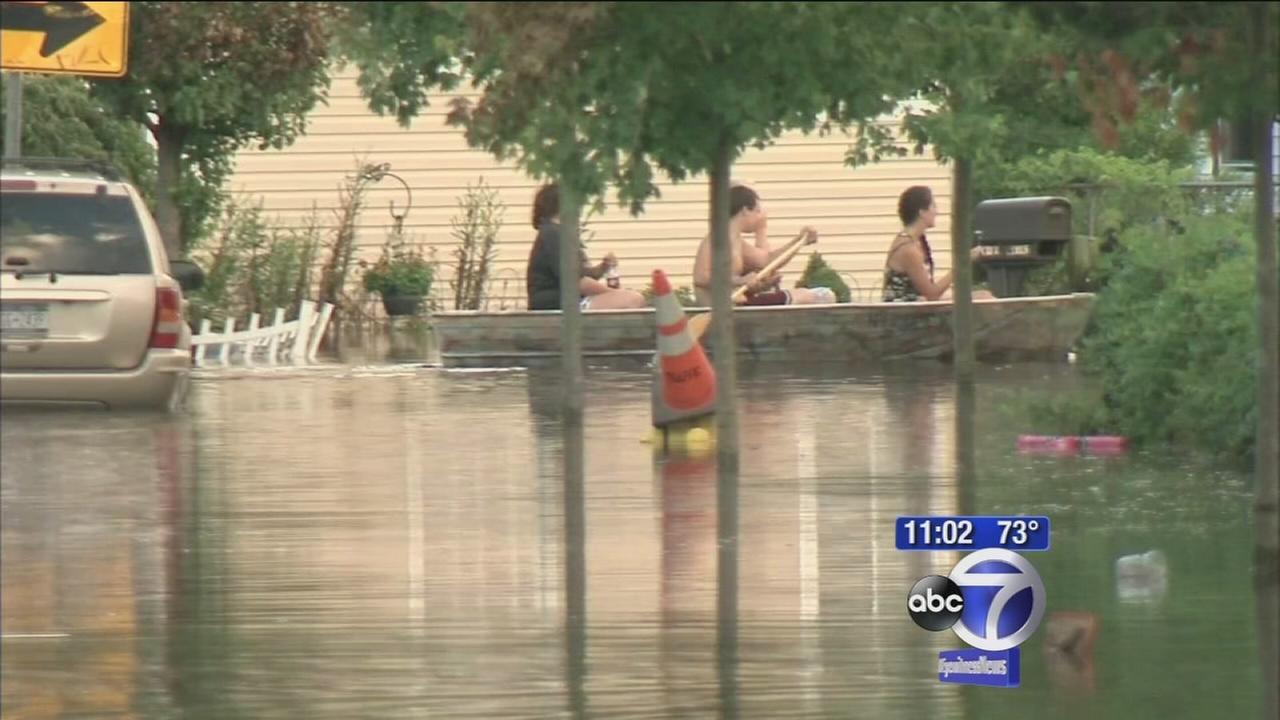 Record rainfall causes flooding on Long Island