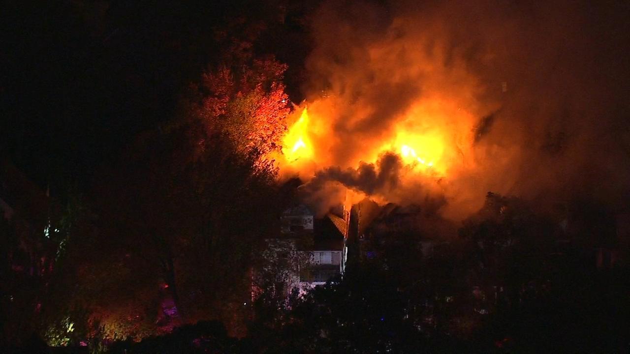 Flames burn through 2 homes in East Orange