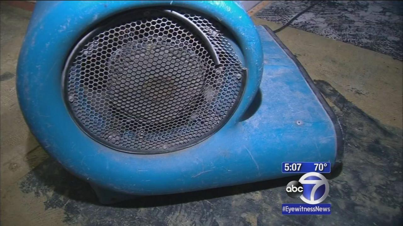 Long Island homeowners cleaning up after rainfall