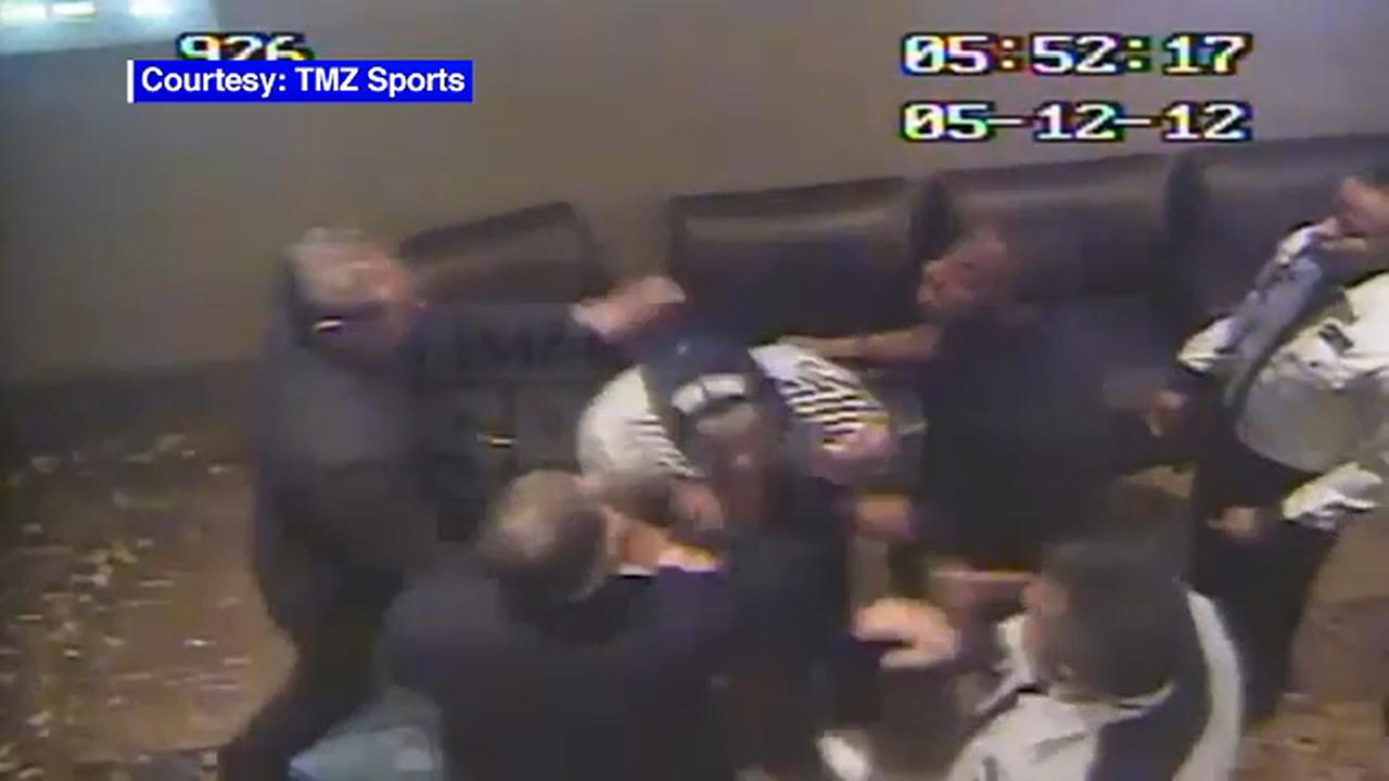 Video surfaces of New York Giants linebacker in clash with guards at Atlantic City casino