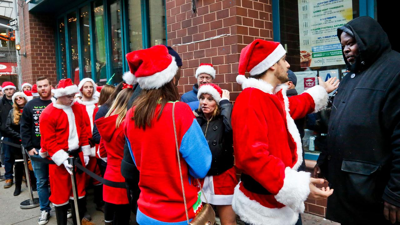 SantaCon in New York City 2017