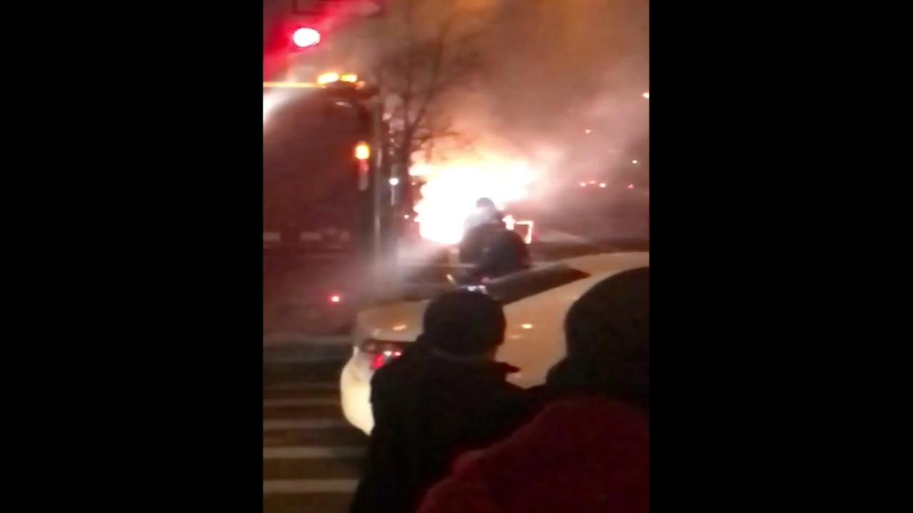 Manhole fire burns in the East Village