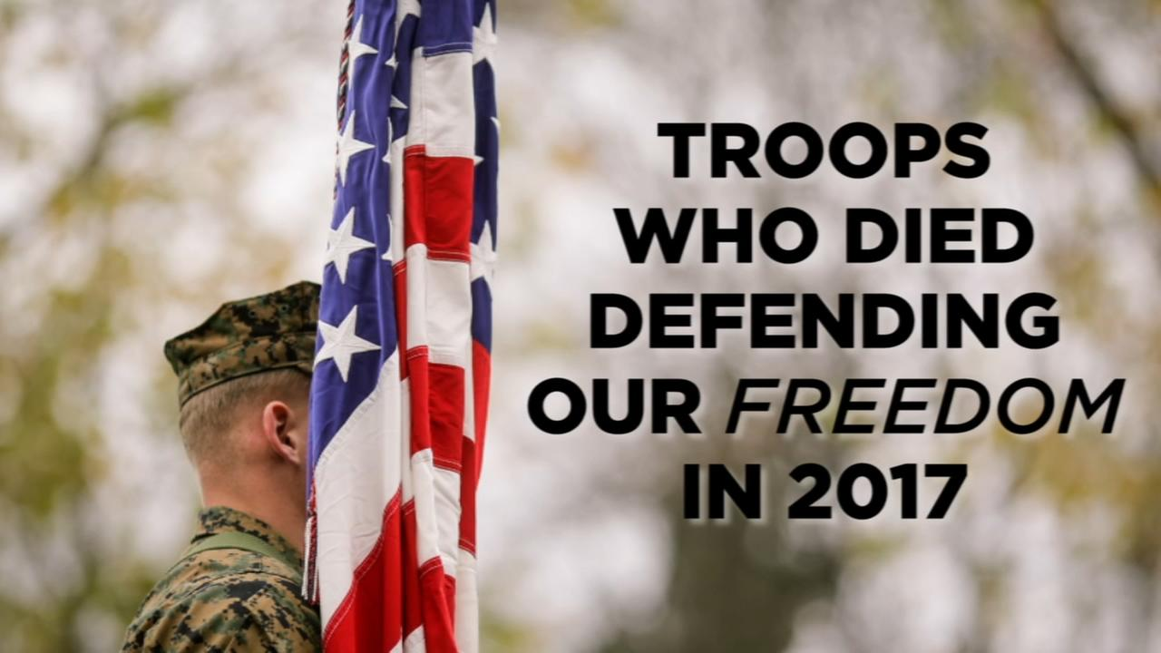 Remembering troops who died in the line of duty in 2017