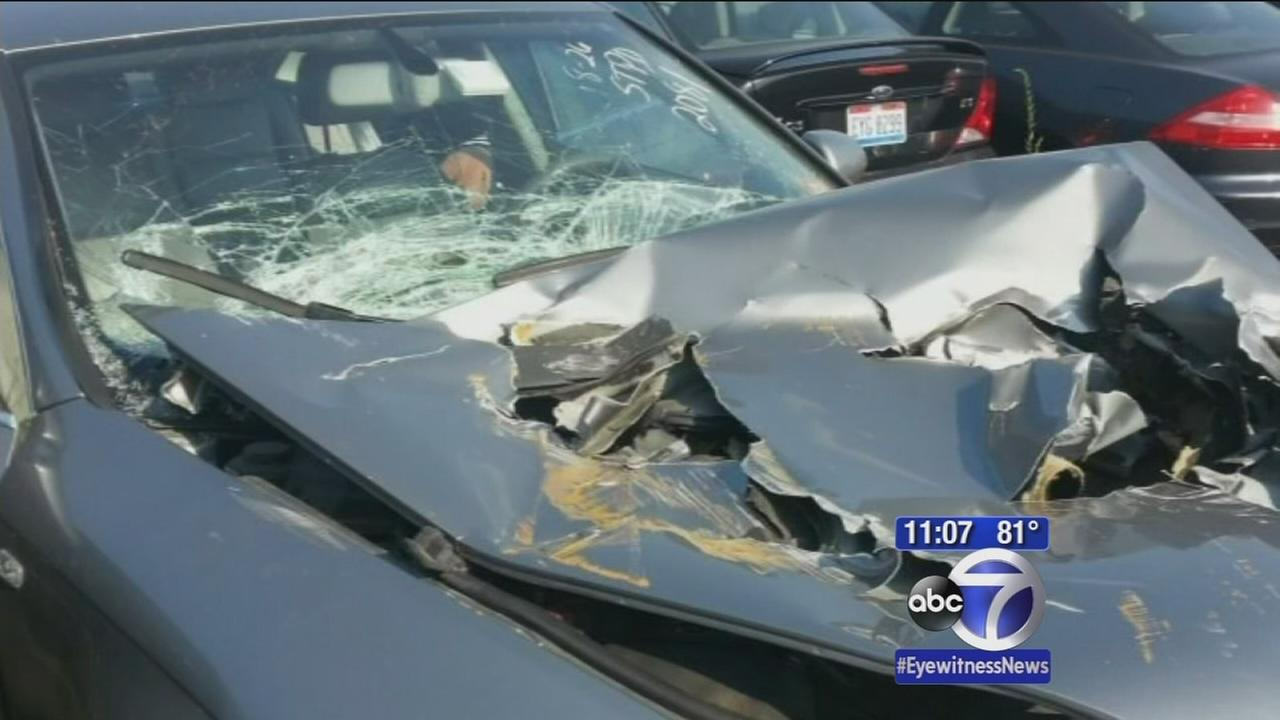 Exclusive: Woman talks about construction equipment crushing her car
