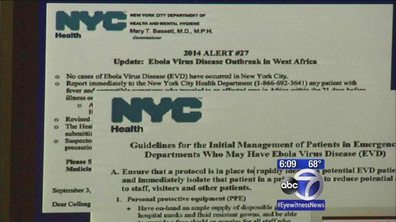 Ebola virus concerns in New York City