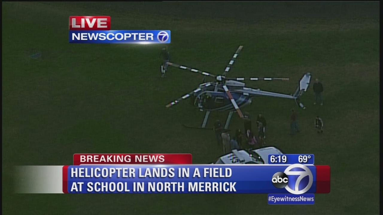 Helicopter makes emergency landing in LI