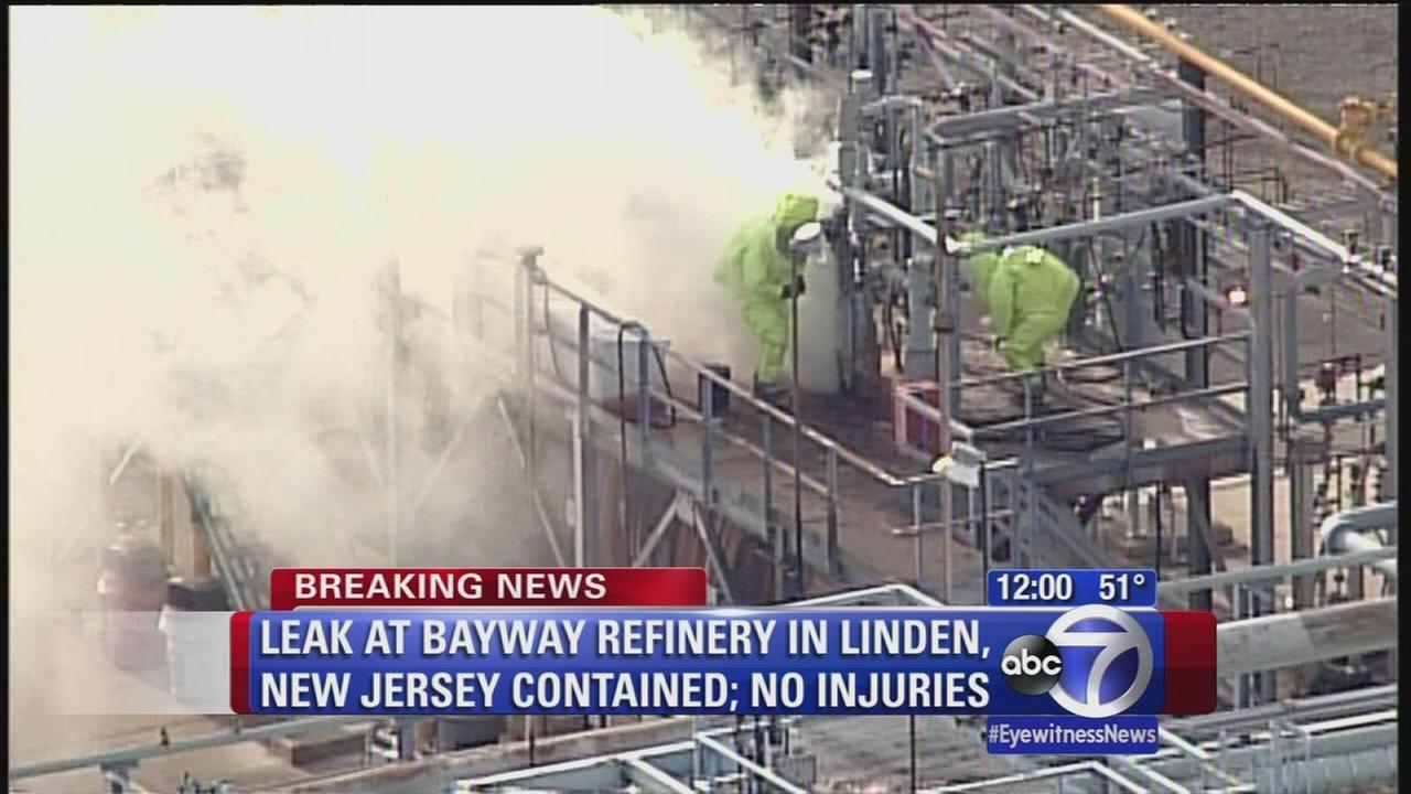 Hazmat teams respond to chemical leak at Linden refinery