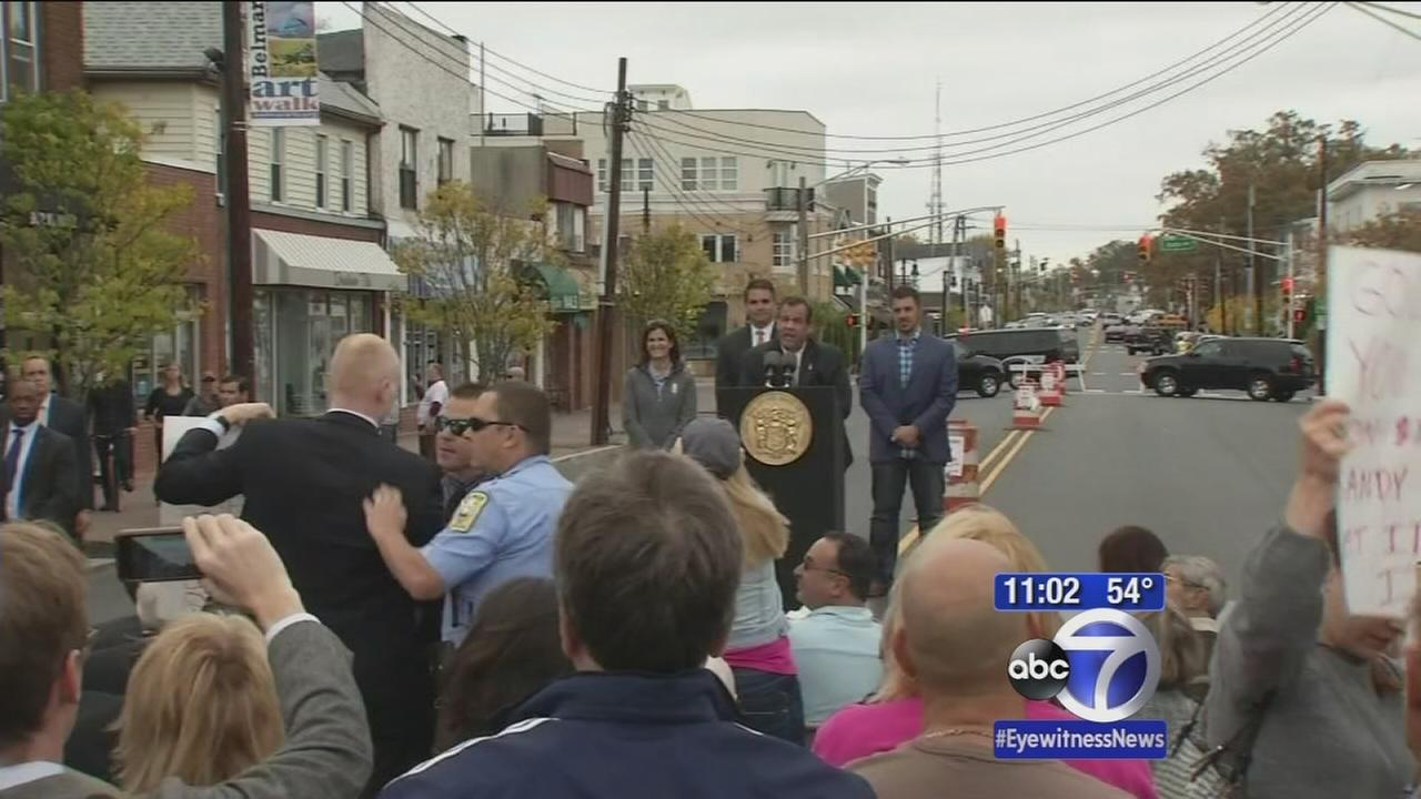 Christie squares off with heckler over Sandy accusations