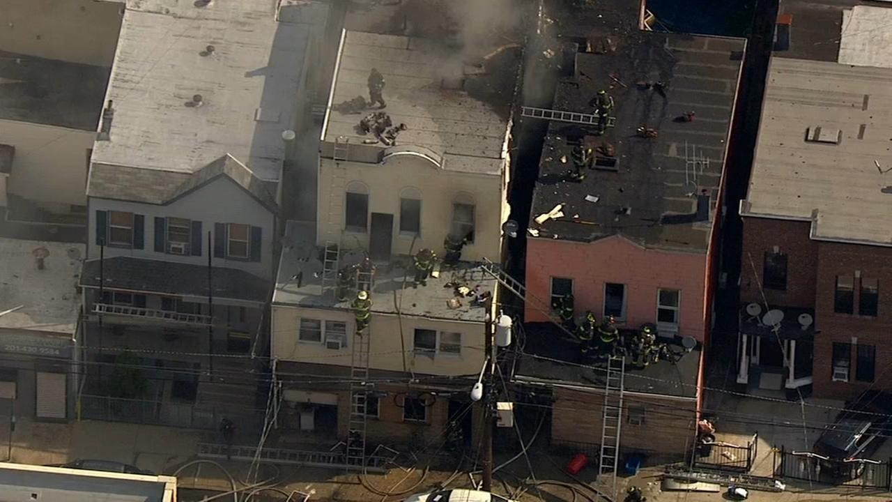 Five alarm fire burns through two buildings in Union City