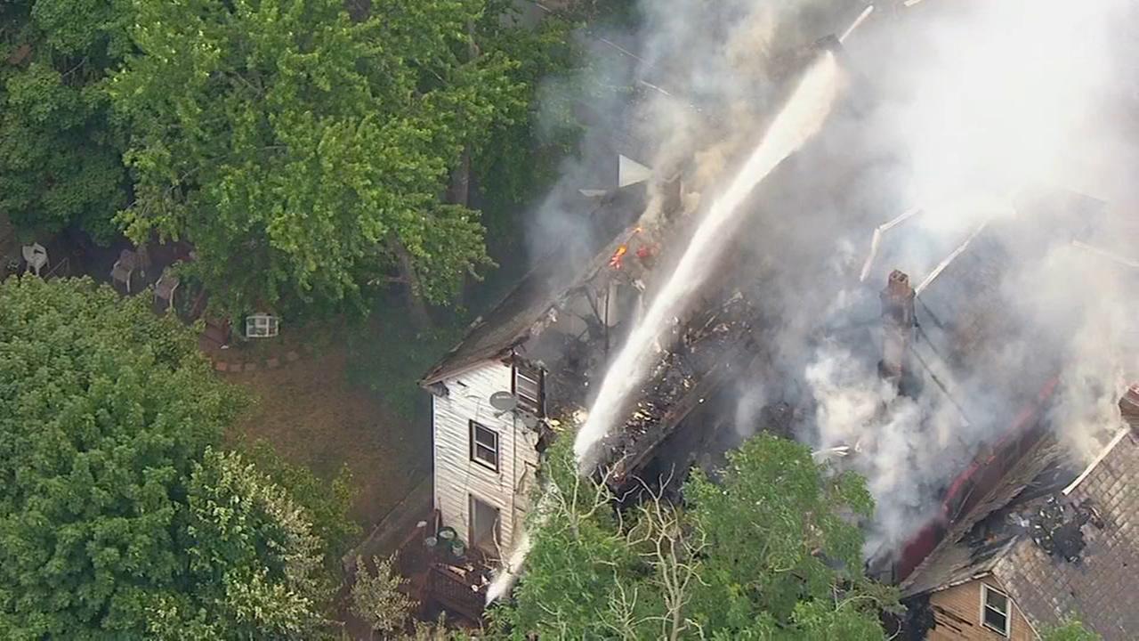 Multi-alarm fire engulfs homes in New Brunswick