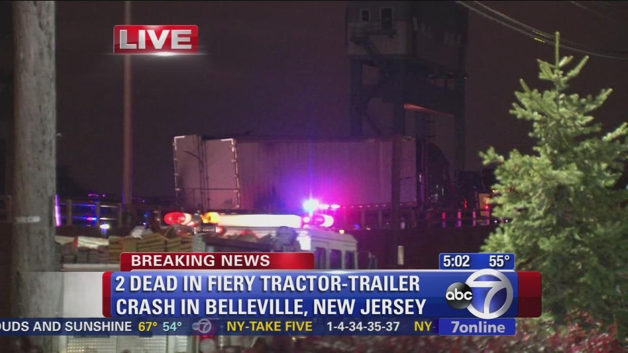 2 dead in Belleville, NJ tractor-trailer wreck