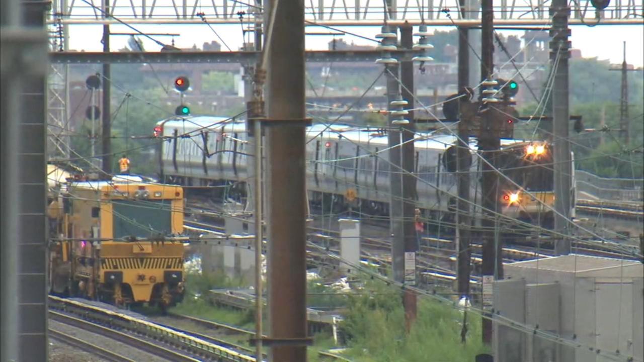 Scene of LIRR derailment