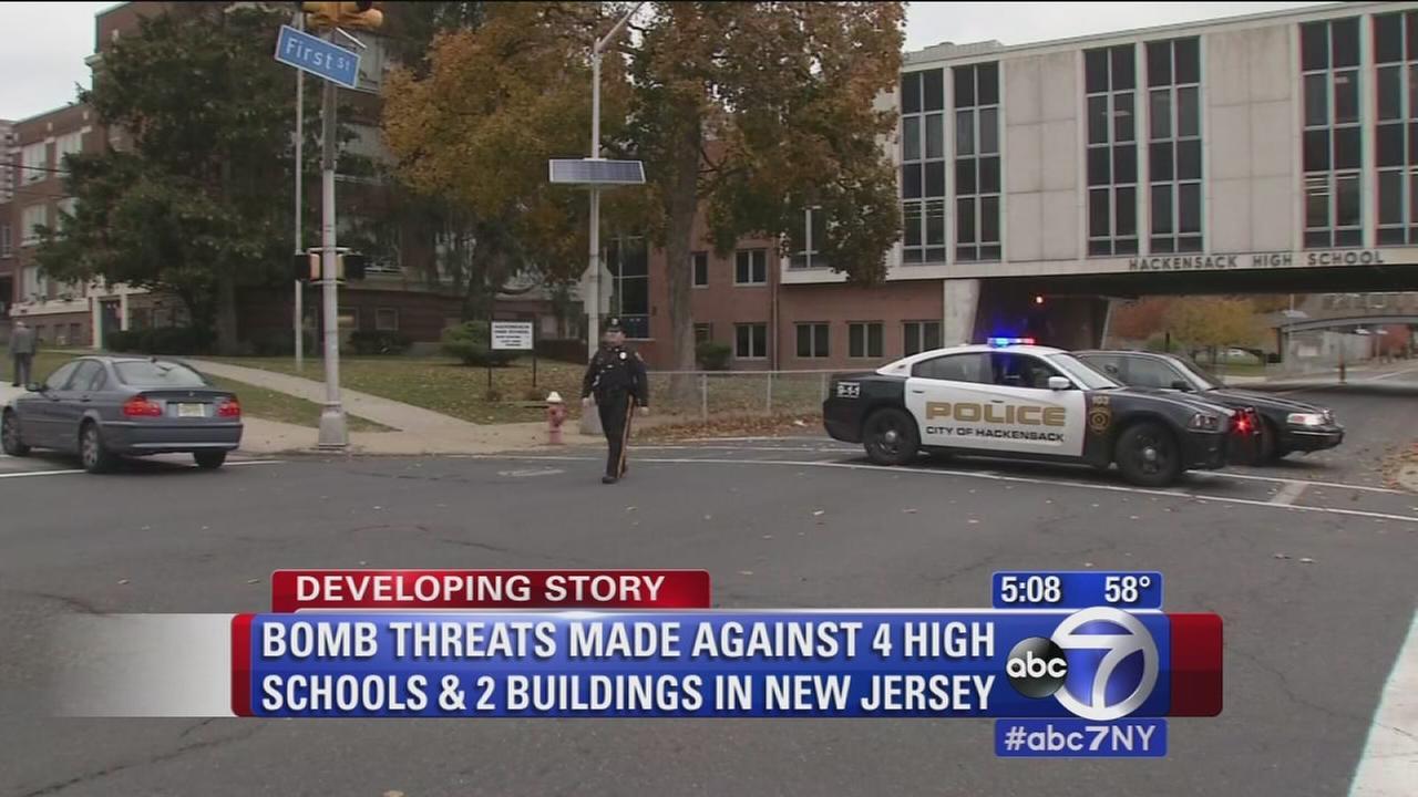 Bomb threats made against NJ schools, buildings