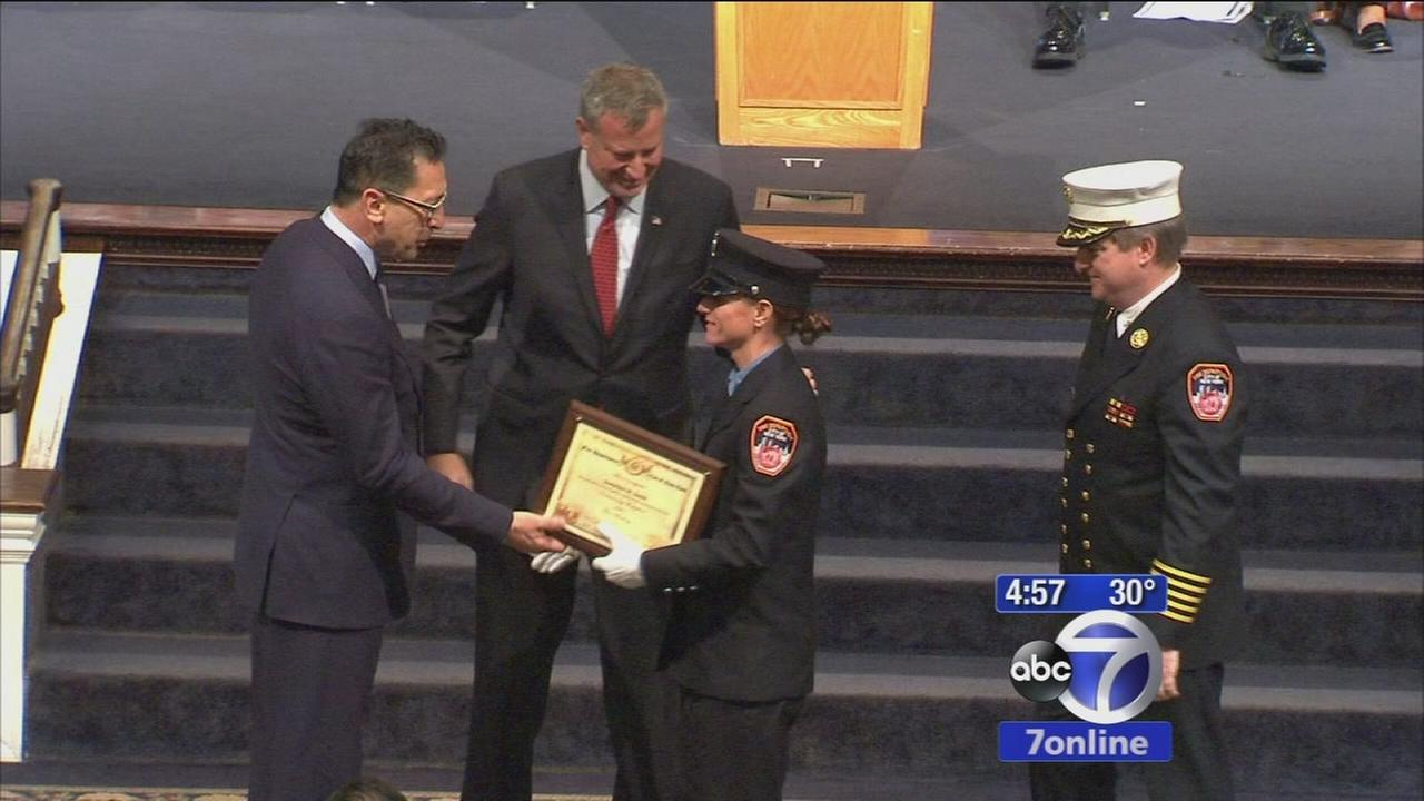 Graduation day at FDNY Fire Academy