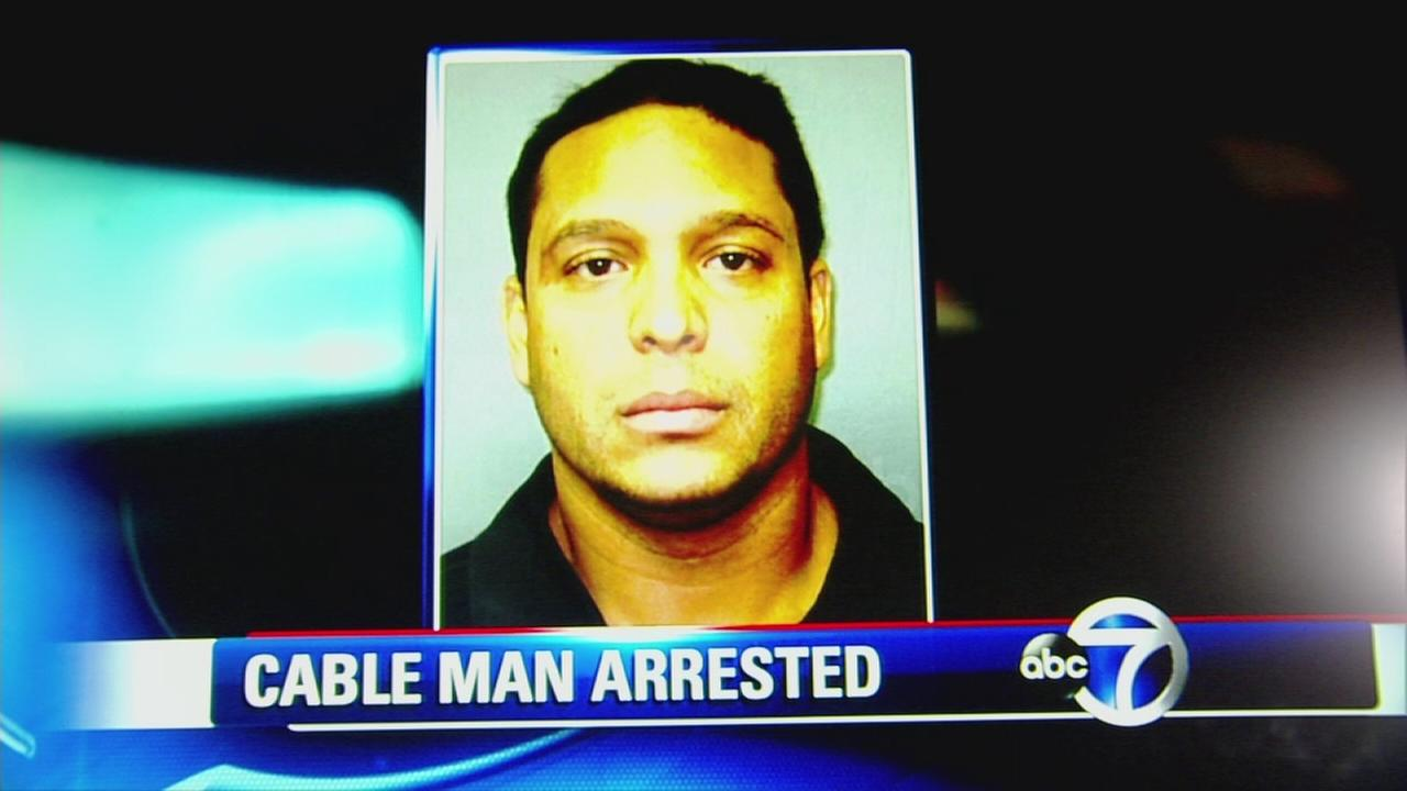 Cable man arrested for alleged sex assaults