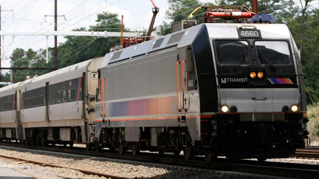 A New Jersey Transit train passes through Princeton Junction, Tuesday, July 18, 2017, in West Windsor Township, N.J.