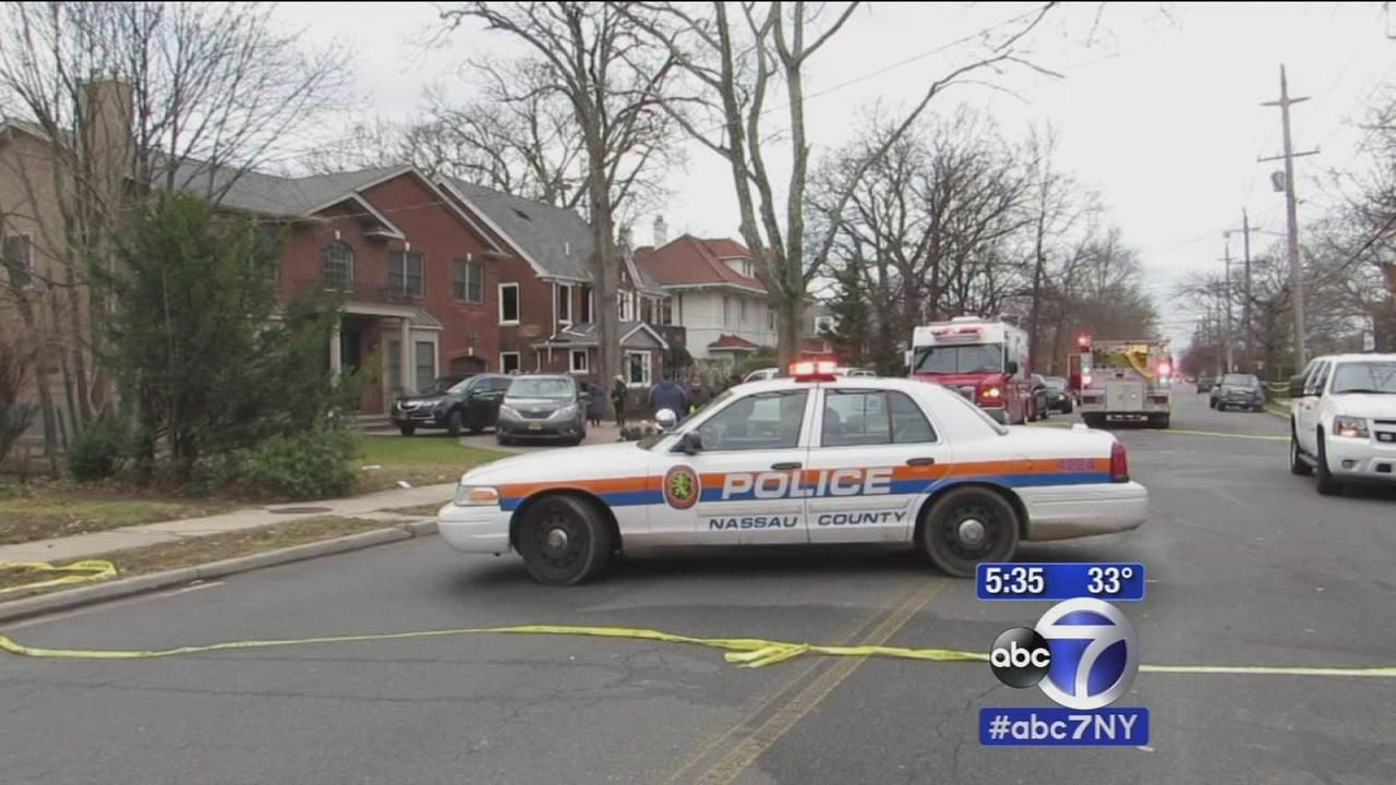 Firefighter in critical condition while battling Woodmere house fire