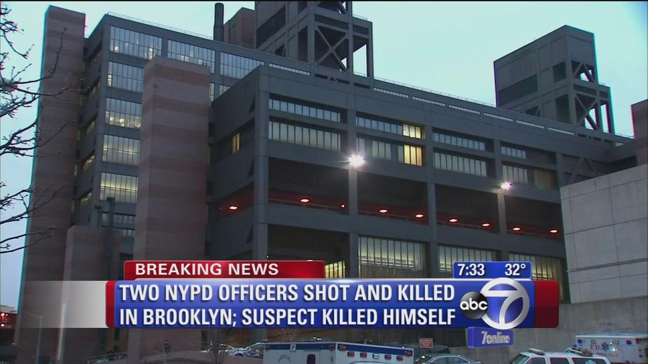 Officers rushed to Woodhull Hospital after shooting