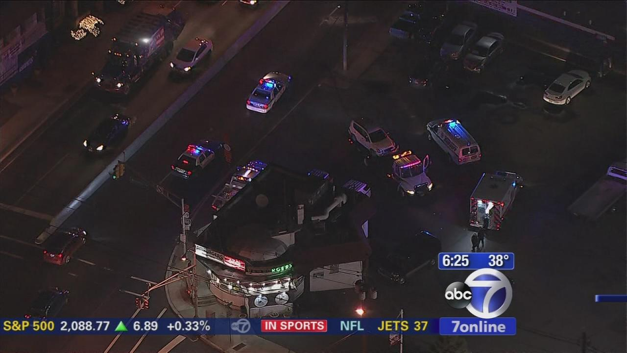 Car crashes after police chase in Jersey City
