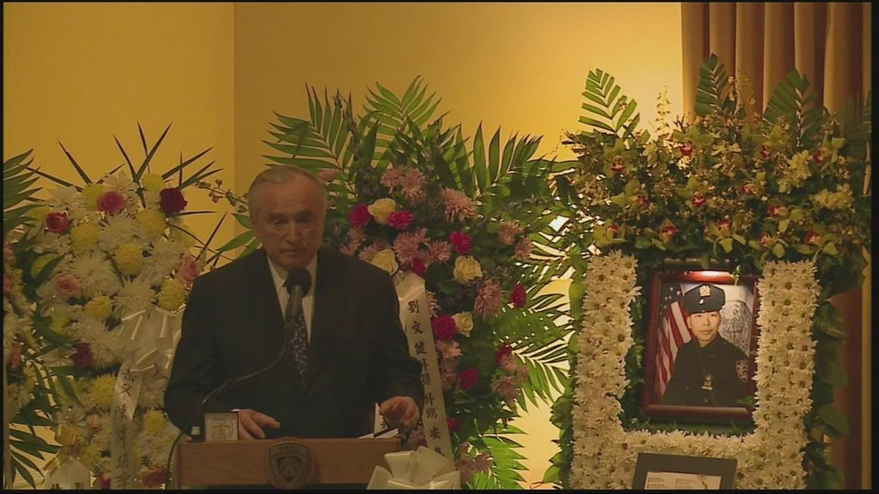 Brattons eulogy for Detective Liu
