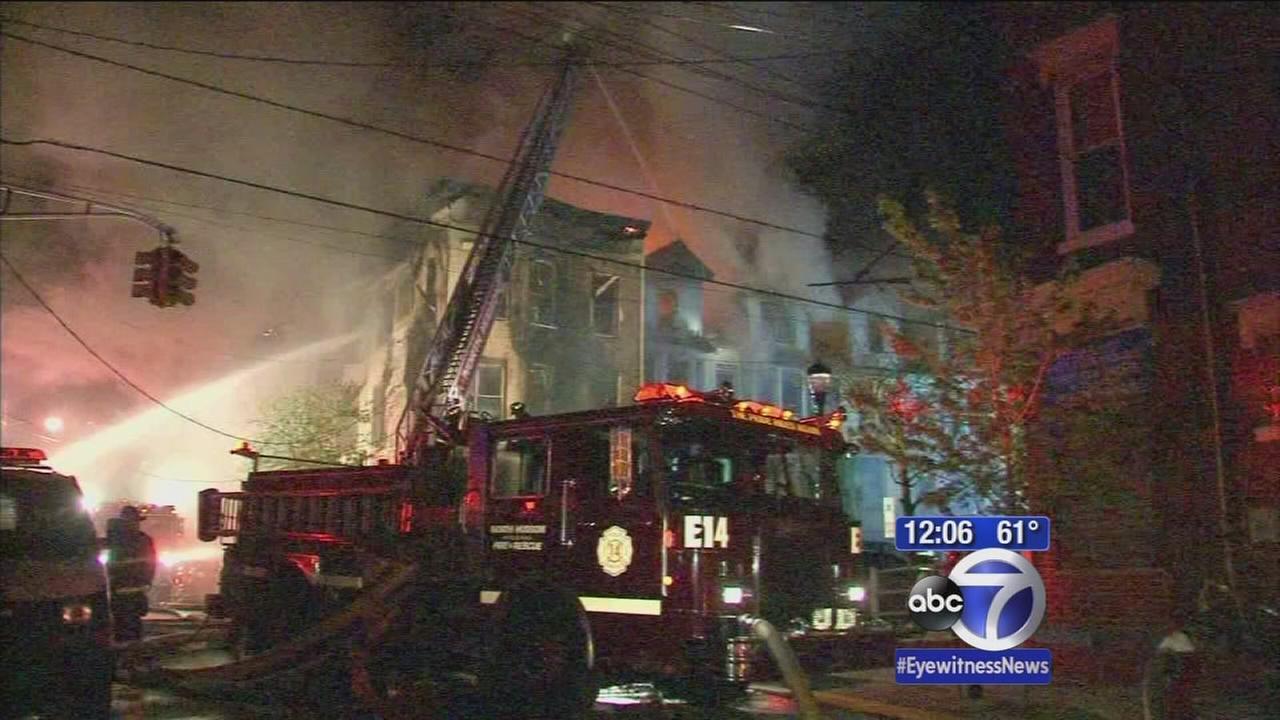 Huge fire roars through Union City