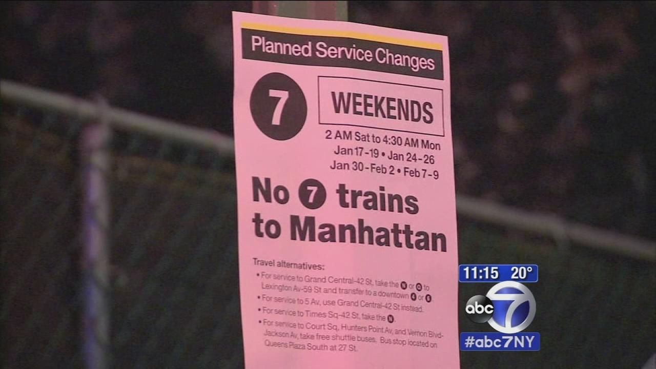 7 train service suspended