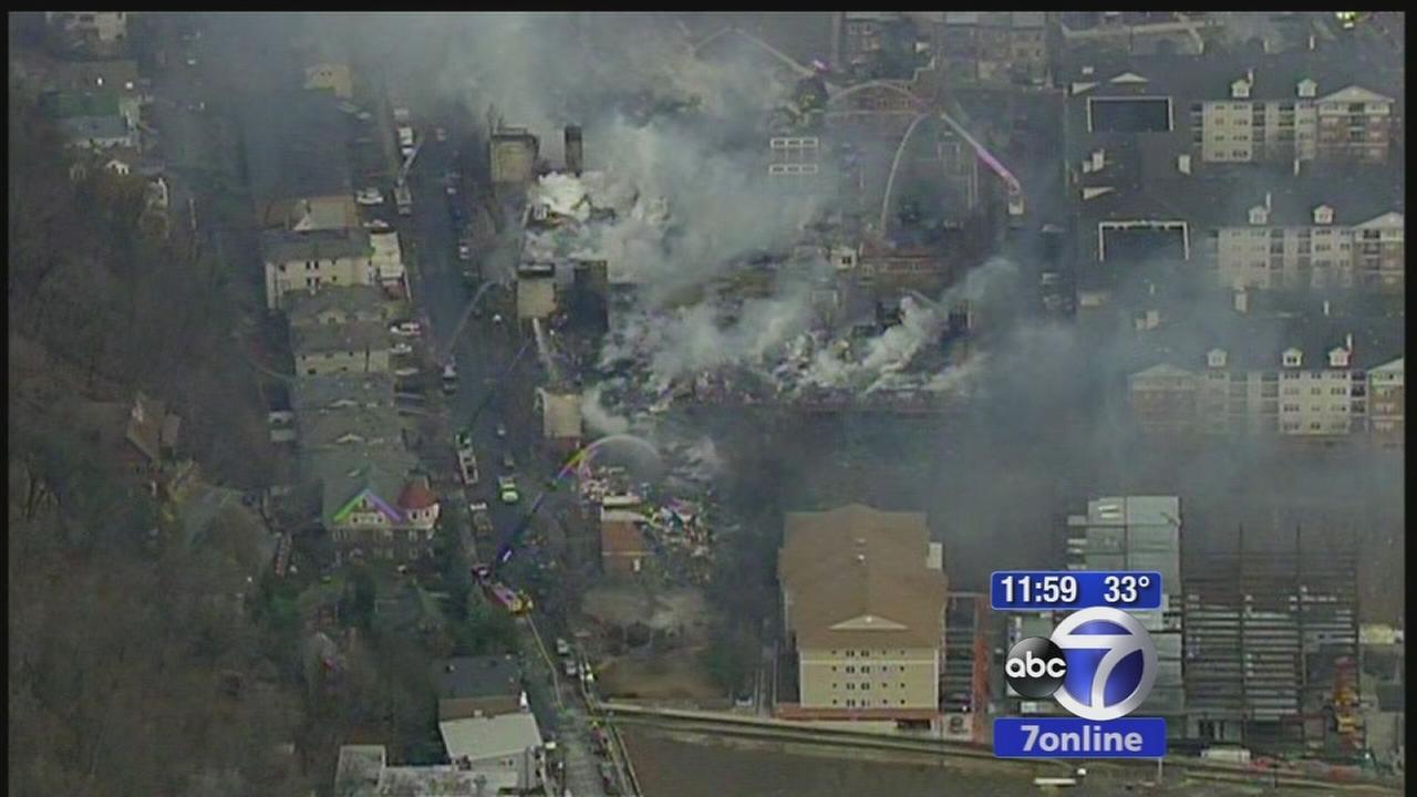 Fire at Edgewater apartment building still smoldering