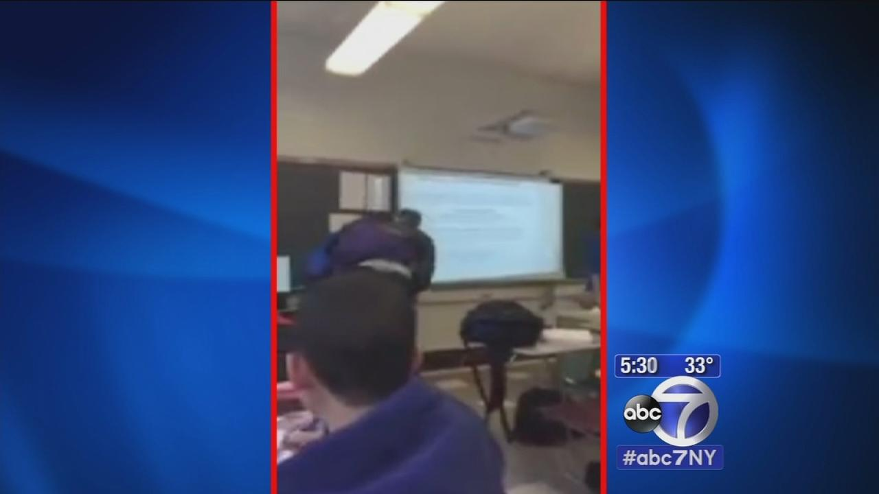 Student charged with assault after video shows fight with teacher