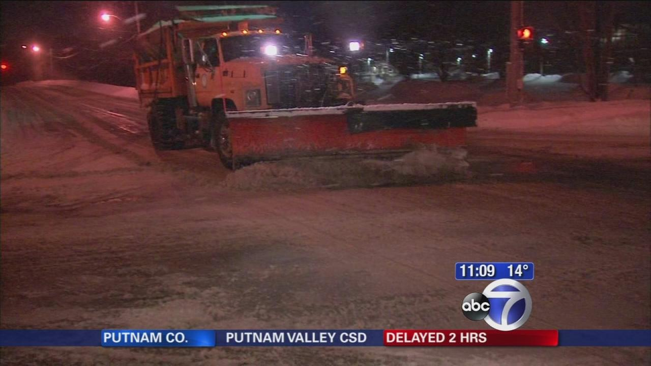 Plows try to get ahead of the snow and ice in Westchester County