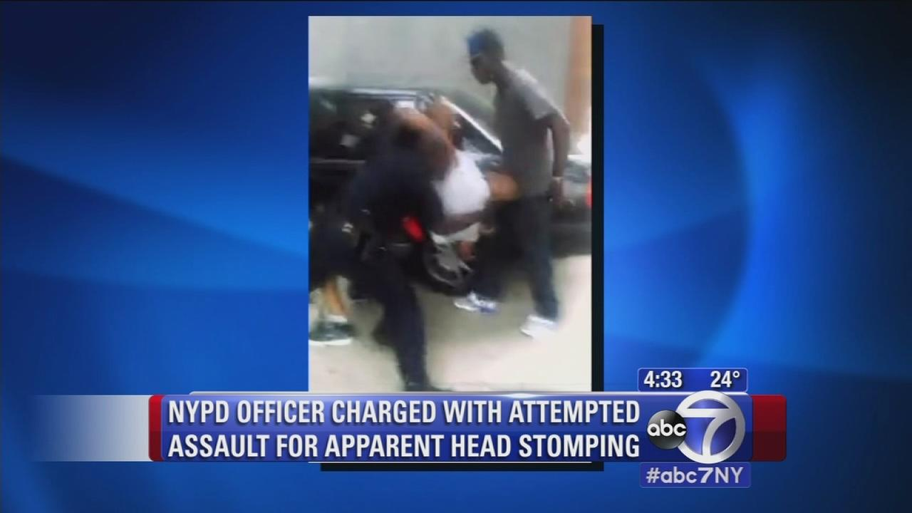 NYPD officer charged with attempted assault