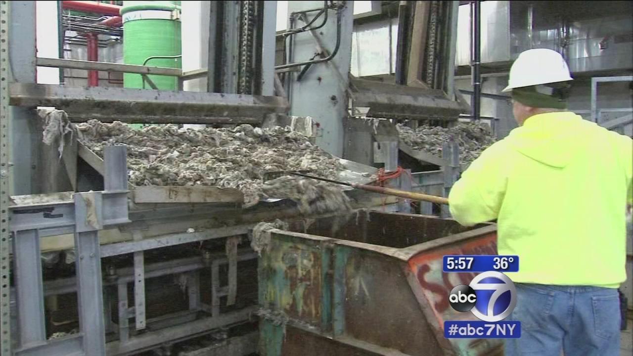 Flushable wipes clogging sewer system