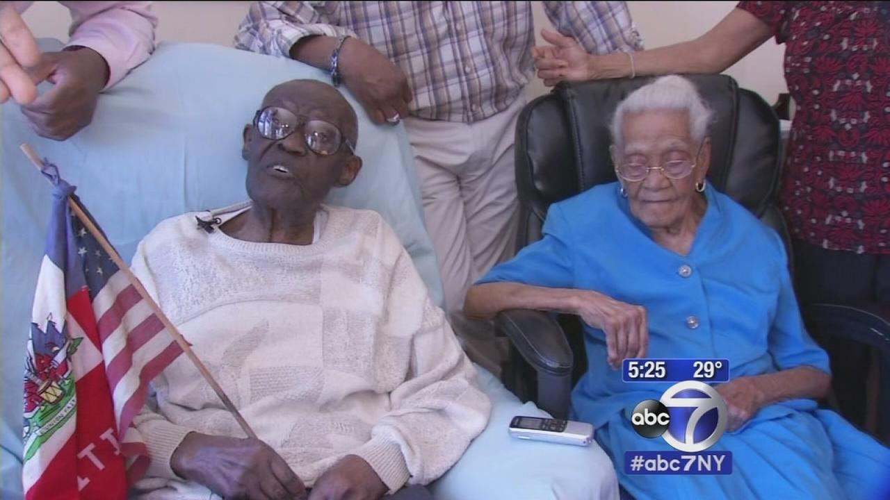 Man celebrates 108th birthday with family and wife of 82 years
