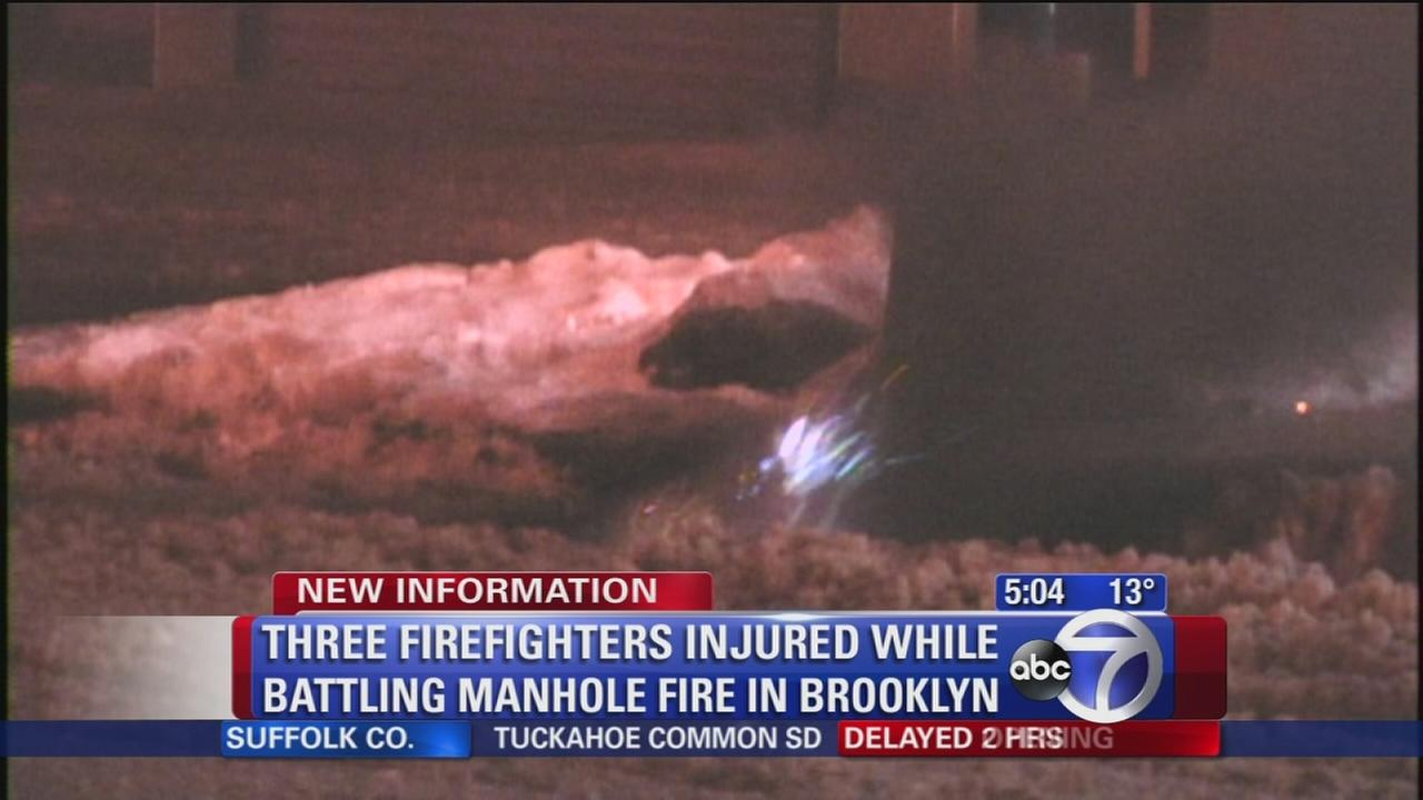 Firefighters injured in manhole fire