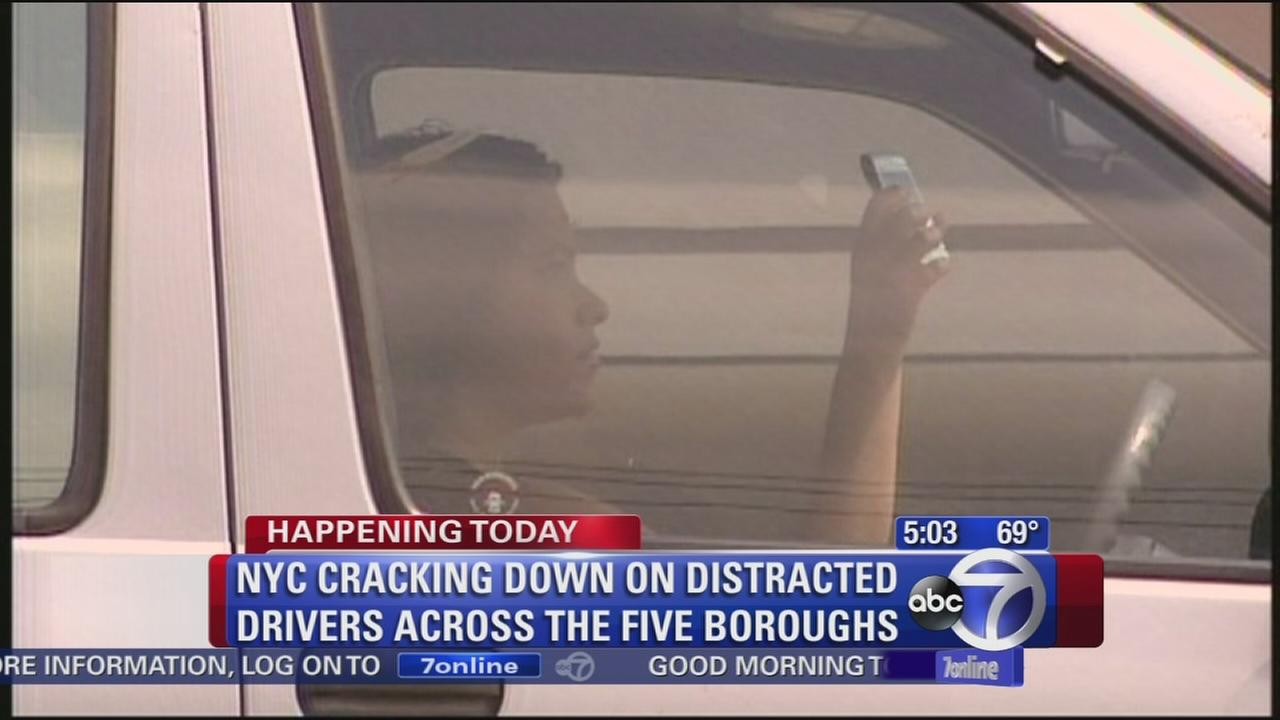 NYC, state cracking down on distracted driving
