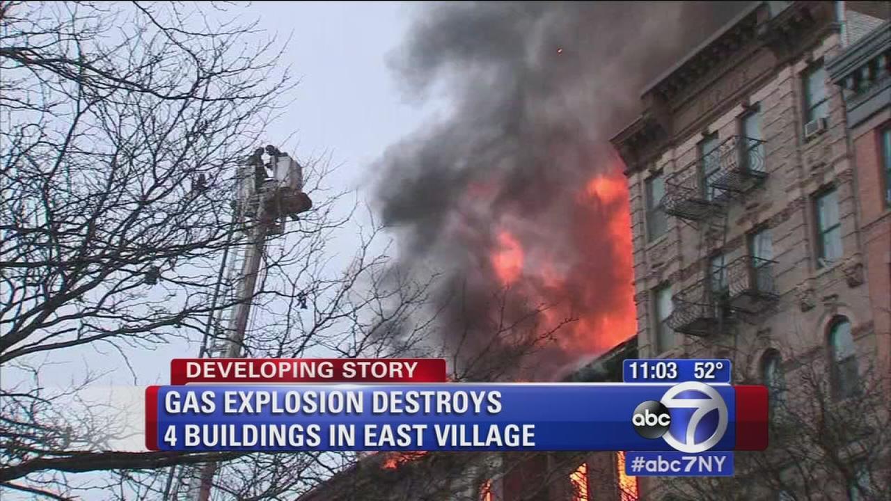 Gas explosion destroys 4 East Village buildings