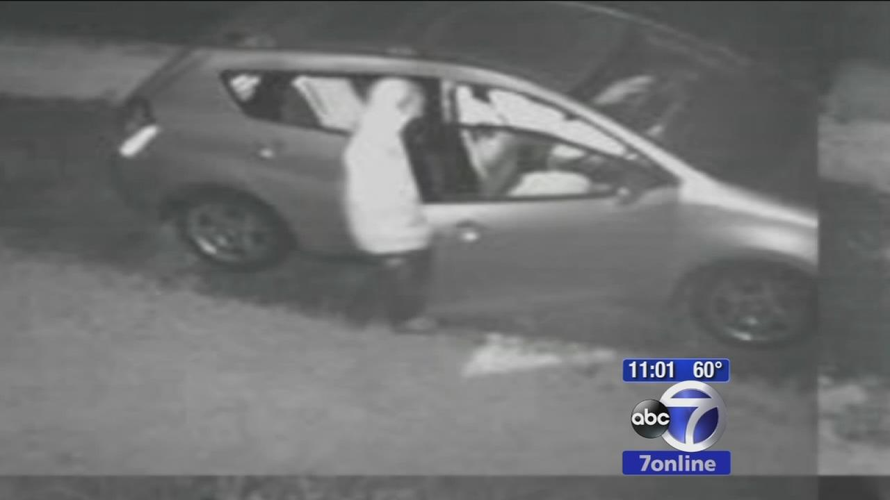 Suspect in arson and burglary of cars in NJ caught on camera